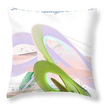 Roller Coaster Throw Pillow by Sonali Gangane