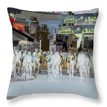 Throw Pillow featuring the photograph Rolling Down Bullard Street by Vicki Pelham