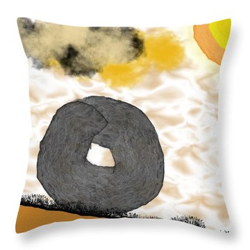 Rolling Home Throw Pillow