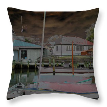 Rolling In Throw Pillow by Carolyn Stagger Cokley