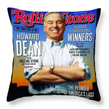 Howard Dean Throw Pillows