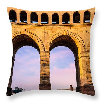 Roman Arches Throw Pillow by Semmick Photo