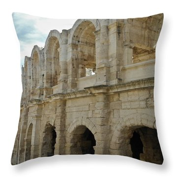 Roman Coliseum In Arles Throw Pillow by Kirsten Giving