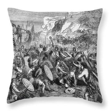 Roman Invasion Of Britain Throw Pillow by Granger