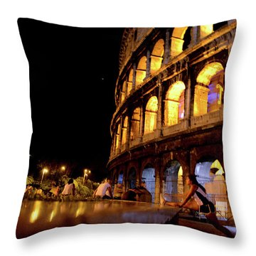 Roman Workout Throw Pillow
