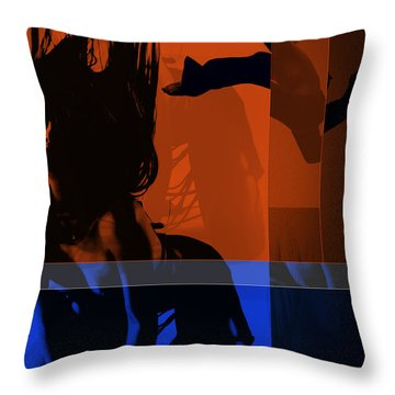 Romance Throw Pillow by Naxart Studio