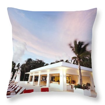 Romantic Place Throw Pillow by Setsiri Silapasuwanchai
