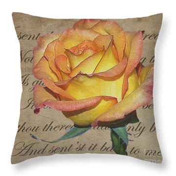 Romantic Rose Throw Pillow