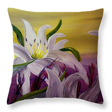 Romantic Spring Throw Pillow by Mark Moore