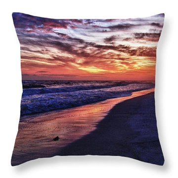 Romar Beach Sunset Throw Pillow