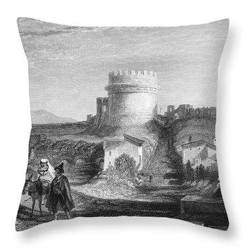 Rome: Appian Way, 1833 Throw Pillow by Granger