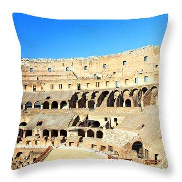 Rome Coliseum Throw Pillow by Valentino Visentini