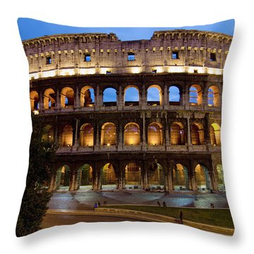 Rome Colosseum Dusk Throw Pillow by Axiom Photographic