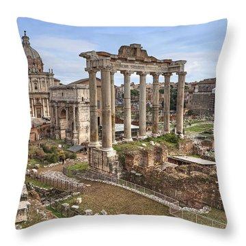 Rome Forum Romanum Throw Pillow by Joana Kruse