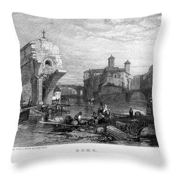 Rome: Ponte Rotto, 1833 Throw Pillow by Granger