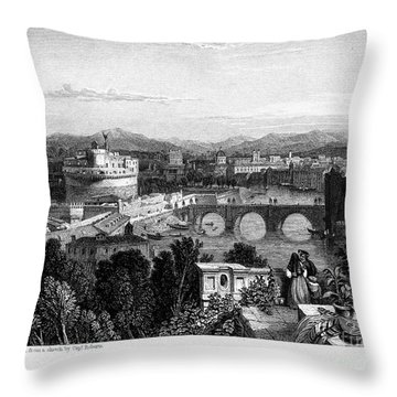 Rome: Scenic View, 1833 Throw Pillow by Granger