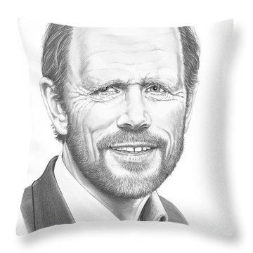 Ron Howard Throw Pillow by Murphy Elliott