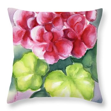 Throw Pillow featuring the painting Room Plant by Inese Poga