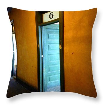 Room Six In Old Hotel Throw Pillow