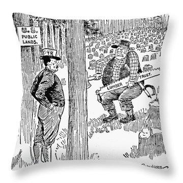 Roosevelt Cartoon, 1900s Throw Pillow by Granger