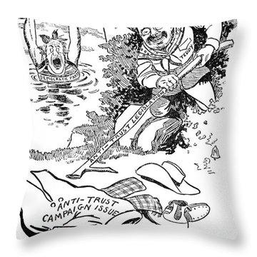 Roosevelt Cartoon, 1902 Throw Pillow by Granger