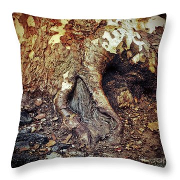 Roots Throw Pillow by Silvia Ganora