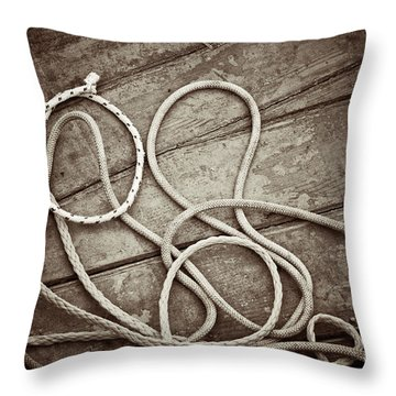 Ropes Throw Pillow by Silvia Ganora