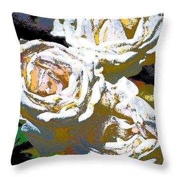 Rose 126 Throw Pillow by Pamela Cooper