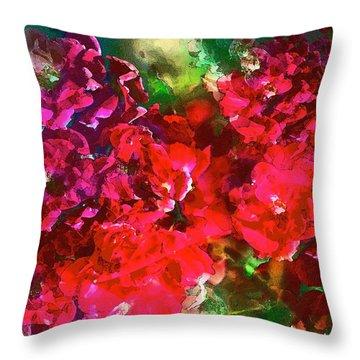 Rose 143 Throw Pillow by Pamela Cooper