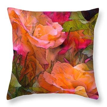 Rose 146 Throw Pillow by Pamela Cooper