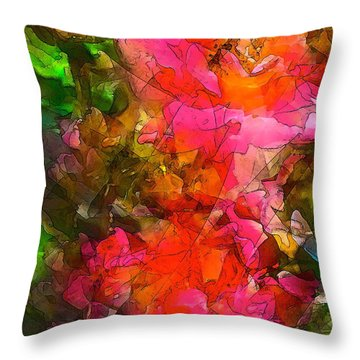 Rose 147 Throw Pillow by Pamela Cooper