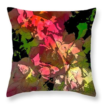 Rose 153 Throw Pillow by Pamela Cooper