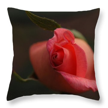 Rose Bud One Throw Pillow