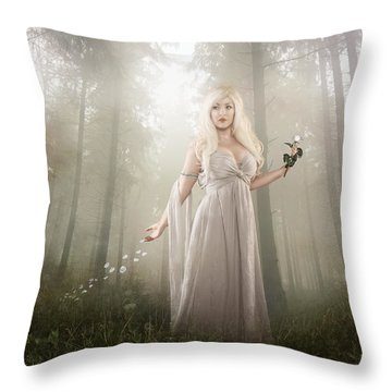 Rose Throw Pillow by Mary Hood
