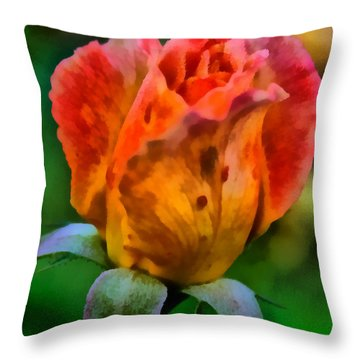 Rose Throw Pillow by Lynne Jenkins