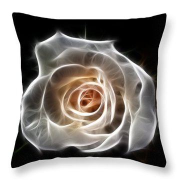 Rose Of Light Throw Pillow