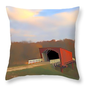 Roseman Bridge Of Clint Eastwood Fame Throw Pillow by Randall Branham