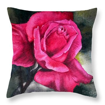 Throw Pillow featuring the painting Rosenberger Rosa Family Rosaceae by Sandra Phryce-Jones