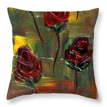 Roses Free Throw Pillow