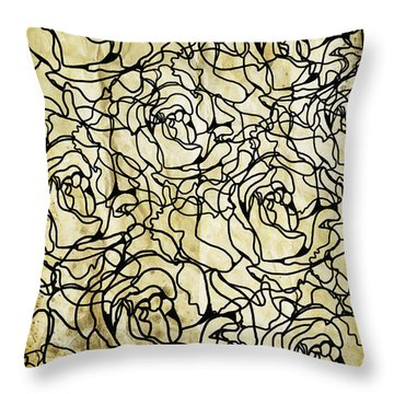 Roses Pattern Throw Pillow by Setsiri Silapasuwanchai