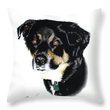 Rottweiler Mix Throw Pillow