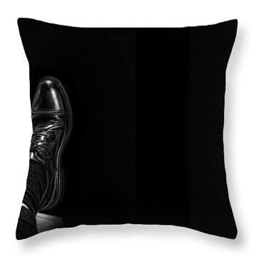 Throw Pillow featuring the photograph Rough Day by Tom Gort
