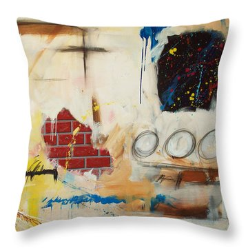 Rough Rider Throw Pillow by Snake Jagger
