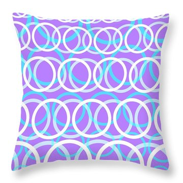 Round Cirlces Throw Pillow by Louisa Knight