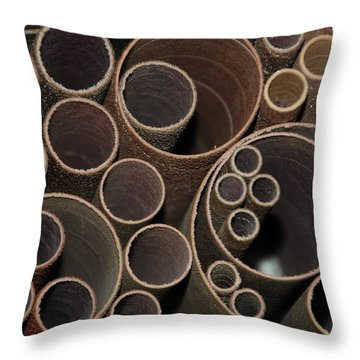 Round Sandpaper Throw Pillow