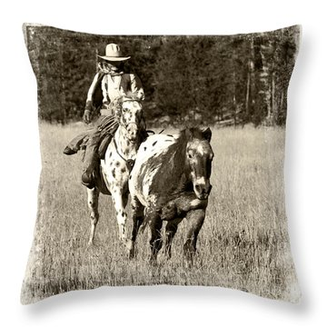 Throw Pillow featuring the photograph Round-up by Jerry Fornarotto