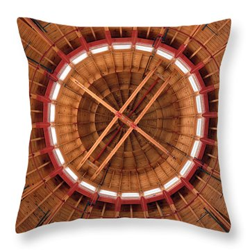 Throw Pillow featuring the photograph Roundhouse Cupula by Darleen Stry