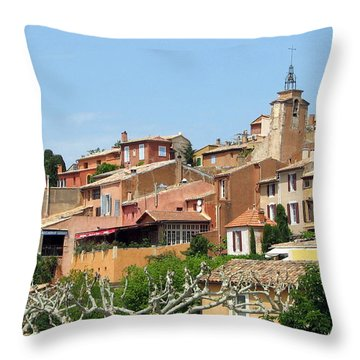 Roussillon In Provence Throw Pillow by Carla Parris