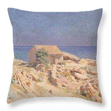 Roussillon Landscape Throw Pillow by Georges Daniel de Monfreid