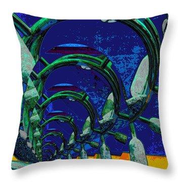 Route 66 2050 Throw Pillow by Alec Drake